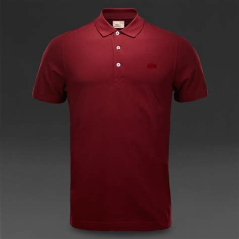 Kerah Apple by Lacoste Vintage Washed Limited Edition Maroon Color Polo