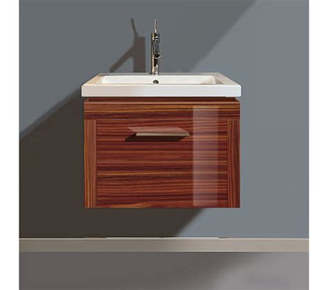 duravit 2nd floor rosewood 580mm wall hung vanity with