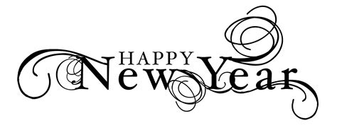 Happy New Year Black And White Clipart happy new year clipart black and white clipartsgram