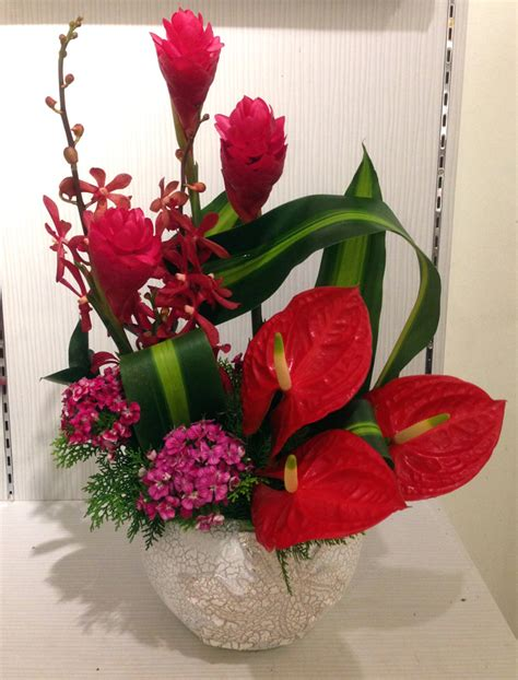 new year flower arrangement 2016 new year cny2016 flower arrangement blossoms