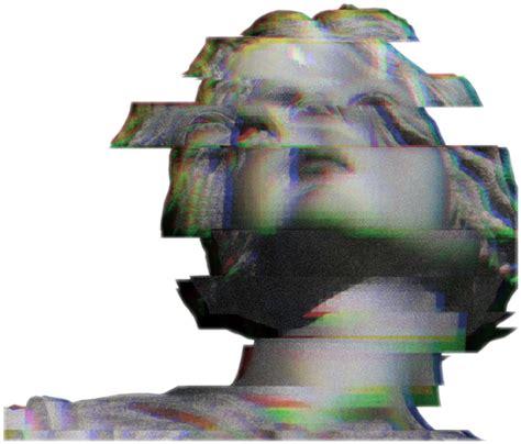 glitch statue edgy tv glitchy face broken redngreen fre