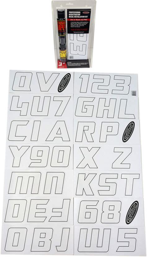 boat lettering application boat lettering white registration installation kit