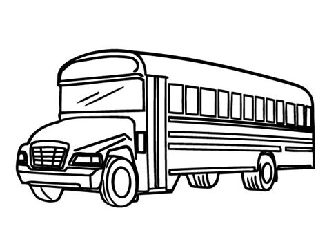 free printable coloring pages school bus printable school bus coloring page for free