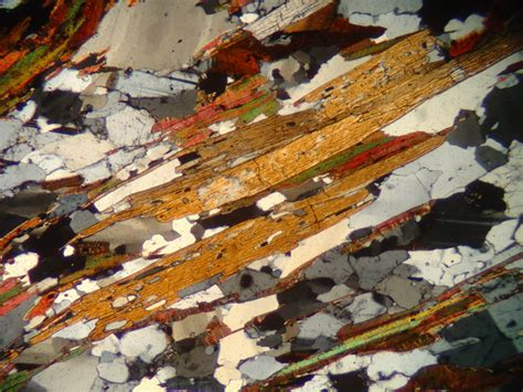biotite thin section kyanite photographs