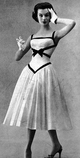 Leoni Ribbon Dress leonie vernet vogue april 15 1956 memories 1940 s