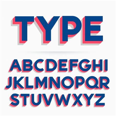 3d font design online 3d typeface font alphabet design vector premium download