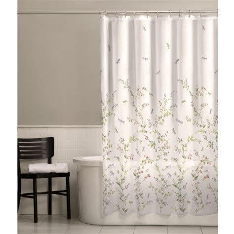 sheer fabric shower curtain maytex dragonfly garden semi sheer fabric shower curtain new
