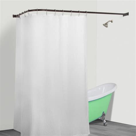 l shaped shower curtain rustproof l shaped corner shower curtain rod utopia alley