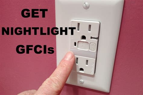gfci outlet with night light install gfci outlets in bathrooms and prevent electrical