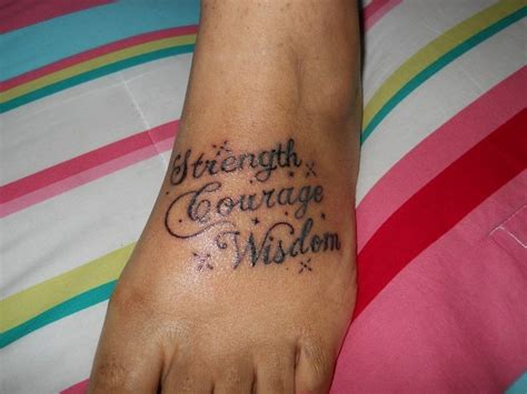 strength courage and wisdom tattoo designs strength courage and wisdom tattoos