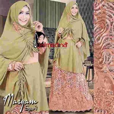Baju Muslim Brokat Syar I Baju Pesta Muslim Brokat Maryam Syar I Syalmadina