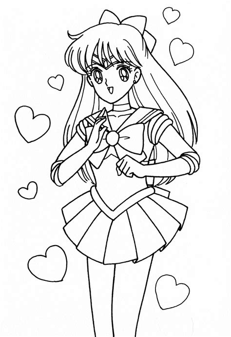 Sailor Venus Coloring Pages sailor moon free colouring pages