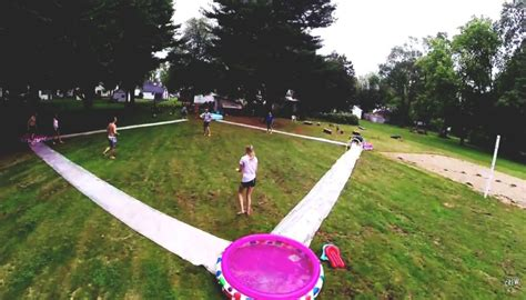 Backyard Slip N Slide by Slip N Slide Kickball Must Be Your Next Summer Activity Playrs Club