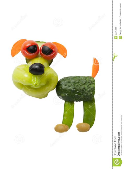 dogs made of made of vegetables stock photo image 63747055
