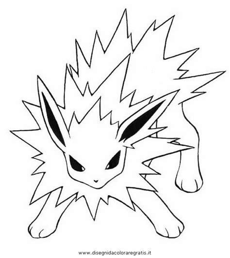 pokemon coloring pages jolteon free coloring pages of n jolteon