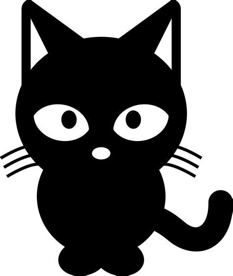 white black cat clipart black cat black and white