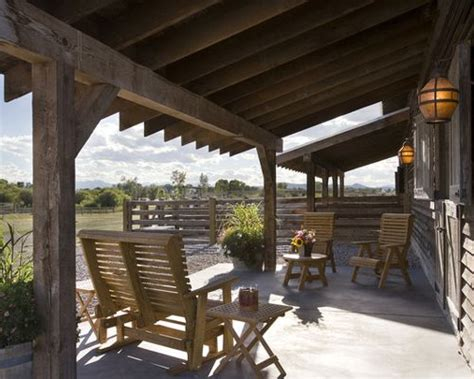this beautiful yet rustic freestanding post and beam rustic patios home design ideas pictures remodel and decor