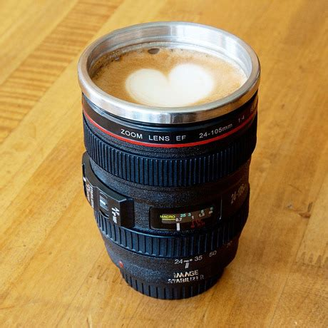 camera lens stainless steel coffee mug only $17 shipped