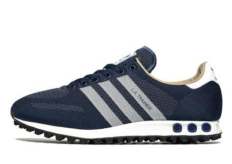 lyst adidas originals la trainer weave in blue for
