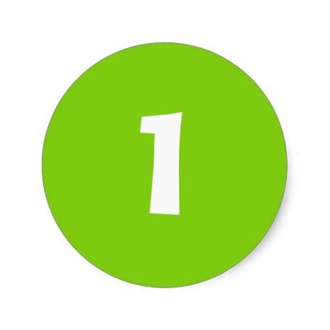 Green Mba Number 1 by Number One Small Green Stickers By Janz Number 1