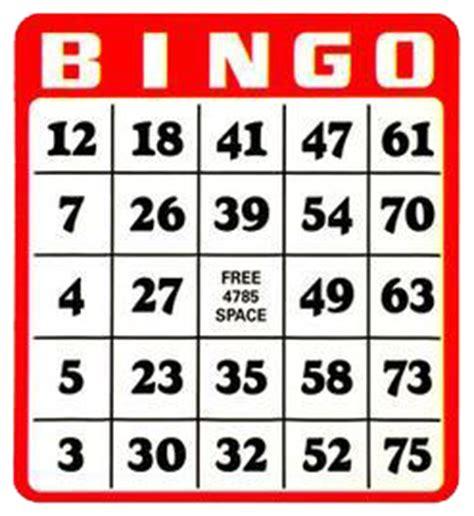 Bingo Card Template Png by Bingo Clipart