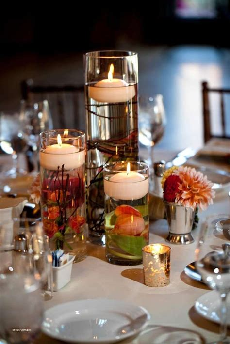 Tall Wedding Centerpiece Ideas On A Budget Inspirational Wedding Candle Centerpieces On A Budget