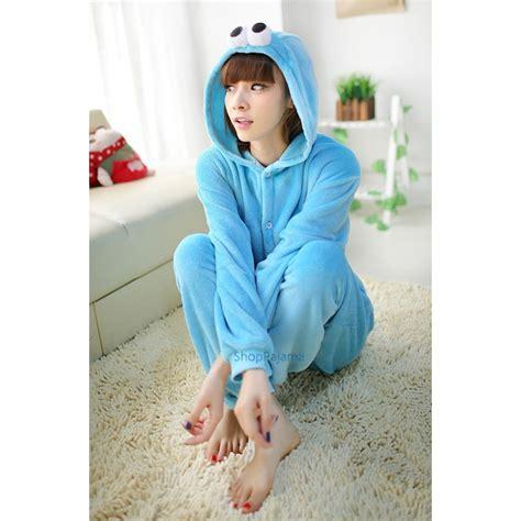 cookie blue sesame kigurumi onesie pajamas