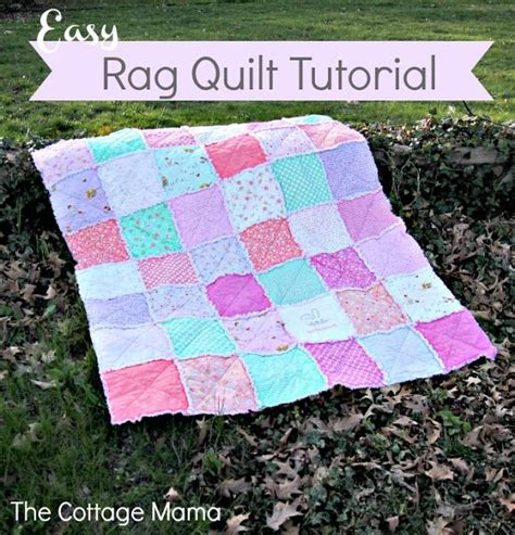 quilting tutorial pinterest easy rag quilt tutorial quilts pinterest quilt