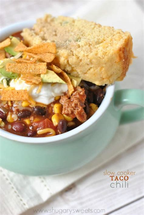 slow cooker taco chili shugary sweets
