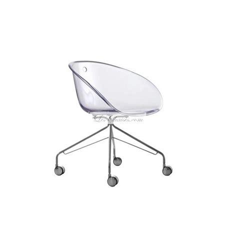 Chaise Design A Roulette Gliss Et Chaises Design Pedrali Chaise De Bureau Transparente