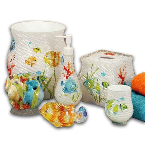 Fishing Bathroom Accessories Fish Bathroom Accessories Tropical Fish Vanity Bathroom Accessory Set Ebay Popular Fish