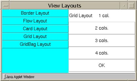 grid layout manager exploring the awt layout managers