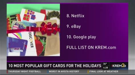 most popular gifts for 10 most popular gift cards for the holidays