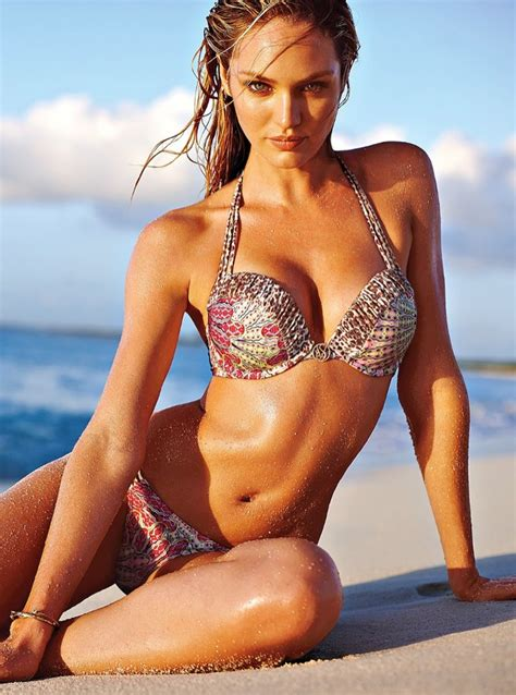 Candice Swanepoel Models Bikinis In Victoria S Secret Shoot