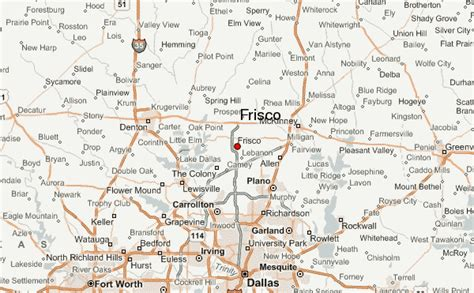 frisco texas map frisco location guide