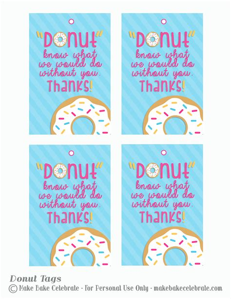 Free Thank You Card Templates Donut by Dunkin Donuts Gift Card Tags Search