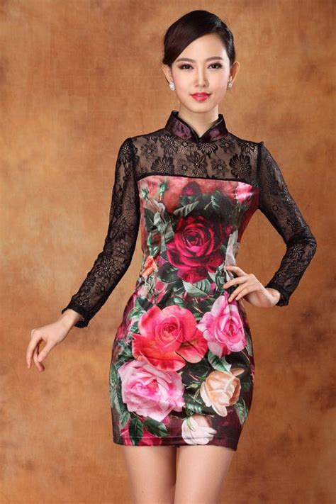 Sleeve Qipao lace sleeves modern qipao dress qipao