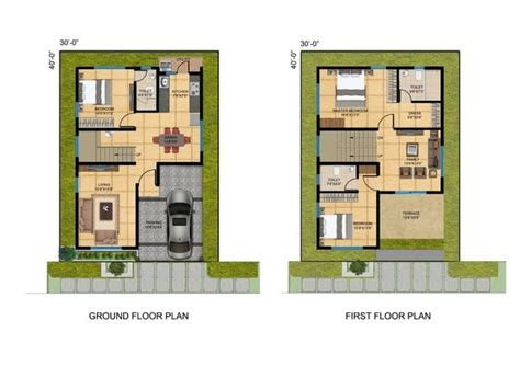 site plan house 30x40 house plans