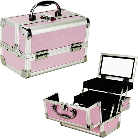 Box Organizer Make Up makeup cosmetic organizer w mirror 3 trays