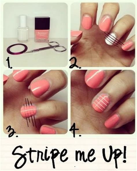 easy nail art stripes 2015 nail art tutorials to do at home page 2 inspiring
