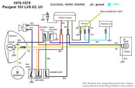 peugeot wiring diagrams moped wiki moped army