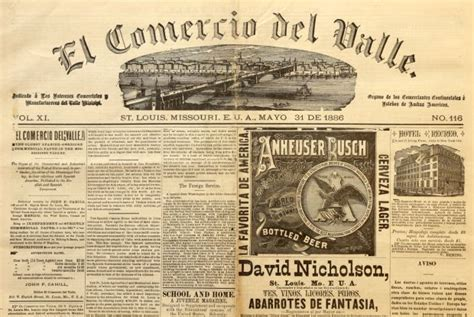 imagenes english newspaper copies of 19th century english spanish newspaper published
