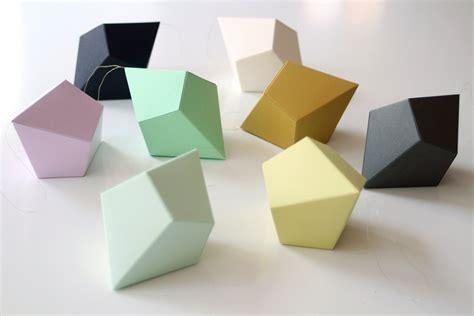 Diy Geometric Paper Ornaments Set Of 8 Paper Polyhedra Paper Ornaments Templates