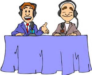 sports broadcaster clipart