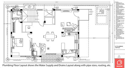 Floor Plan With Plumbing Layout by Plumbing Design Package Houzone