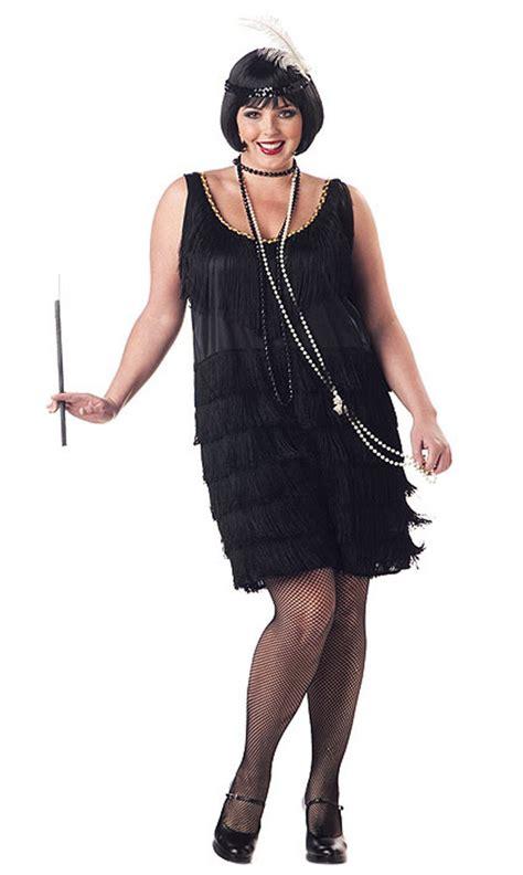 womens rag time flapper black costume wholesale 20s 1920 s jazz time flapper women s costume dress black plus