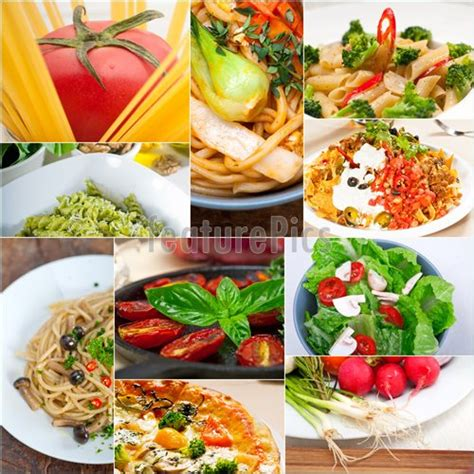 Vegetarian Food Collage Stock Image I4409495 At Featurepics Healthy Food Collage