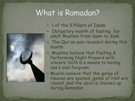 what is fasting ramadan presentation for non muslim host families