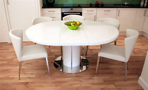 mesa redonda extensible blanca mesa redonda extensible im 225 genes y fotos