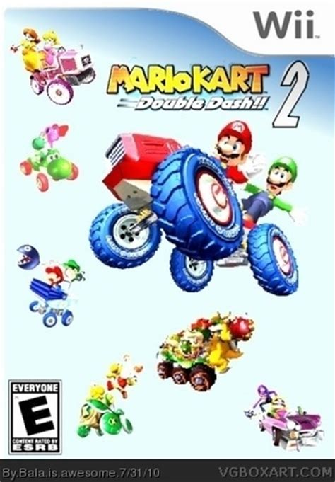 mario kart double dash!! 2 wii box art cover by bala is